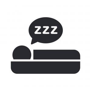 Vector illustration of single isolated sleeping icon